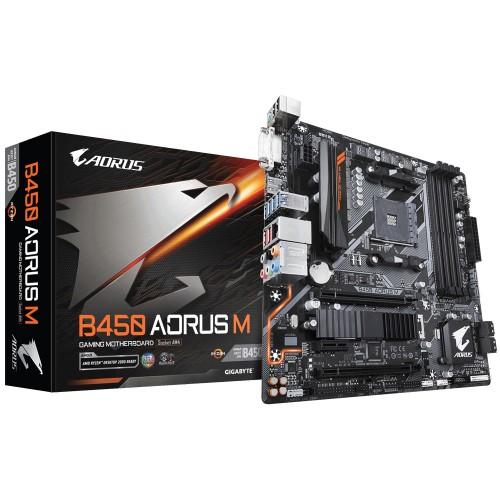 Gigabyte B450 AORUS M (rev. 1.0) Socket AM4 micro ATX AMD B450