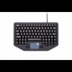 Gamber-Johnson 7300-0083 USB QWERTY Zwart toetsenbord voor mobiel apparaat
