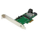 StarTech.com 3 Port PCI Express 2.0 SATA III 6 Gbps RAID Controller Card w/ mSATA Slot and HyperDuo SSD Tiering