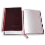 Black n' Red Book Casebound 90gsm Double Cash 192pp A4 Ref 100080514 [Pack 5]