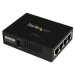 StarTech.com Inyector de Alimentación PoE Power over Ethernet Midspan 4 Puertos Gigabit RJ45 de Pared - 802.3 at af