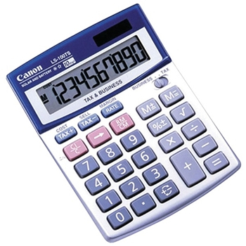 Canon LS-100TS Desktop Basic Blue, White calculator