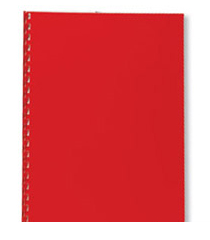 GBC POLYOPAQUE BINDING COVERS A4 300 MICRON DARK RED (100)