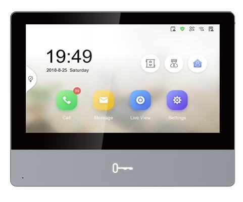 "Hikvision Digital Technology DS-KH8350-WTE1 video intercom system 17.8 cm (7"") Black"
