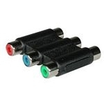 C2G Component Video Coupler 3 x RCA 3 x RCA Black cable interface/gender adapter