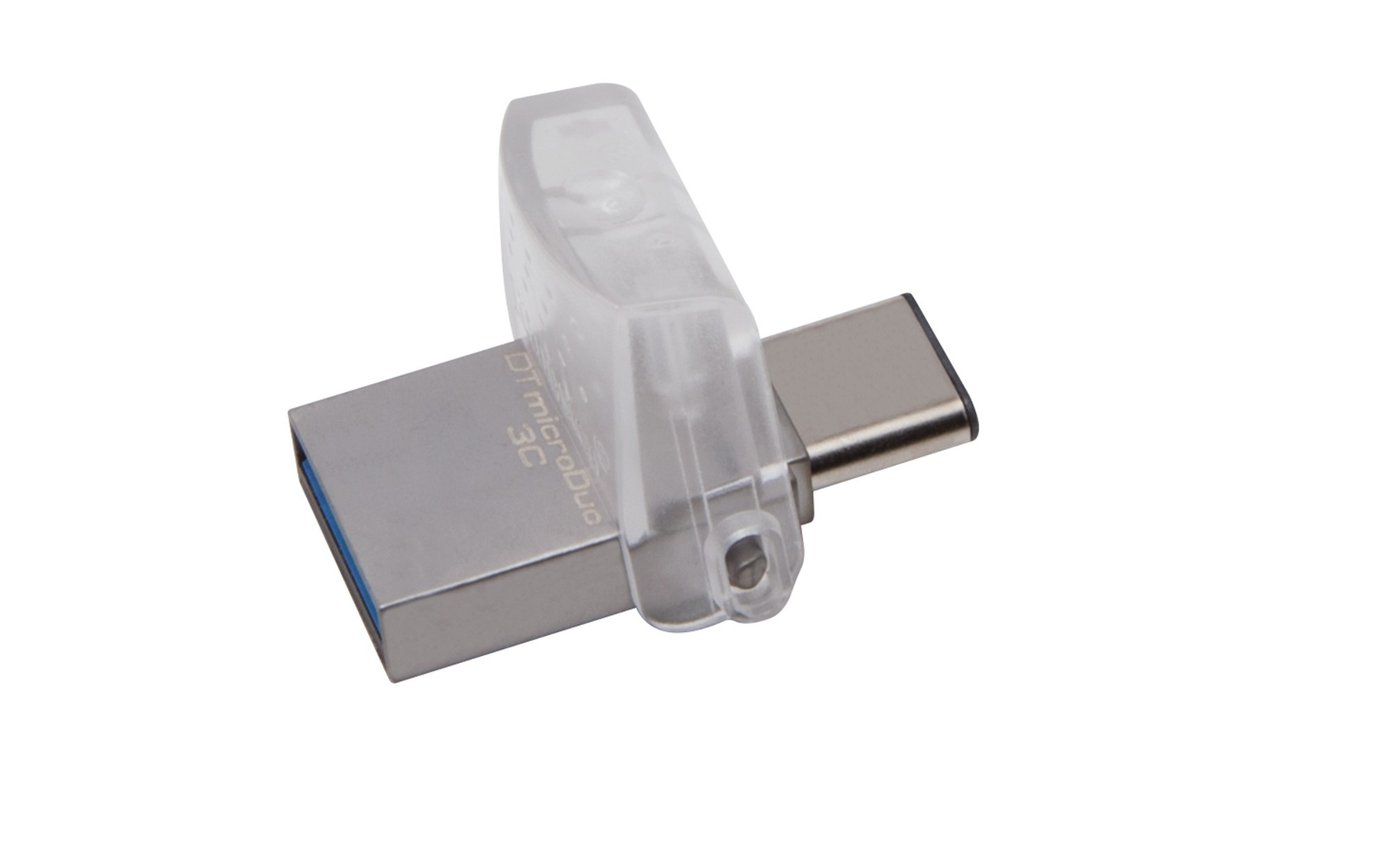 Kingston Technology DataTraveler microDuo 3C 128GB unidad flash USB USB Type-A / USB Type-C 3.2 Gen 1 (3.1 Gen 1) Plata