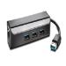 Kensington UA3000E USB 3.0 Ethernet Adapter & 3-Port Hub — Black