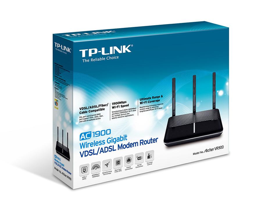 TP-LINK Archer VR900 Dual-band (2.4 GHz / 5 GHz) Gigabit Ethernet ...
