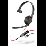 Plantronics Blackwire 5210 Monaural Head-band Black, Red headset 207577-01