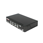 StarTech.com StarView 4 Port USB Console KVM switch 1U Black Keyboard Video Mouse (KVM) Switch Box