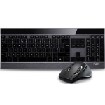 RAPOO 8900P 5GHz Wireless Laser Metal Keyboard Mouse Combo - UltraThin Adjustable HD Laser Engine
