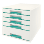 Leitz Wow Cube desk drawer organizer Rubber Turquoise, White