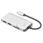Digitus DA-70874 notebook dock/port replicator Wired USB 3.2 Gen 1 (3.1 Gen 1) Type-C Silver