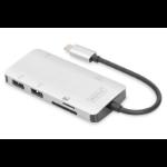 ASSMANN Electronic DA-70874 notebook dock & poortreplicator Bedraad USB 3.0 (3.1 Gen 1) Type-C Zilver
