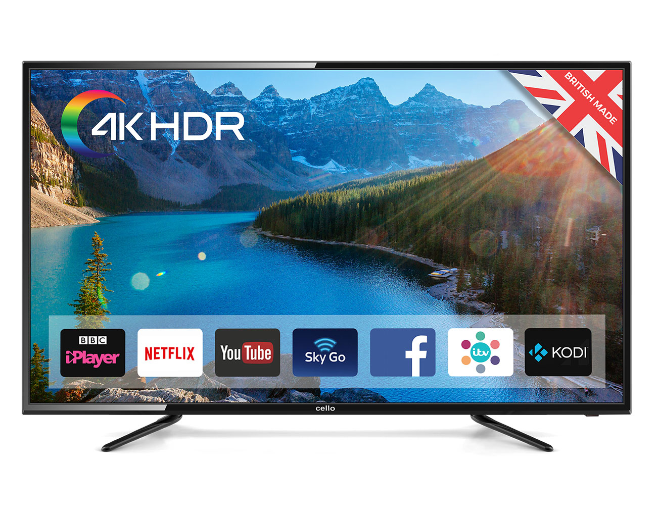 "Cello C58SFS4K TV 147.3 cm (58"") 4K Ultra HD Smart TV Wi-Fi Black"