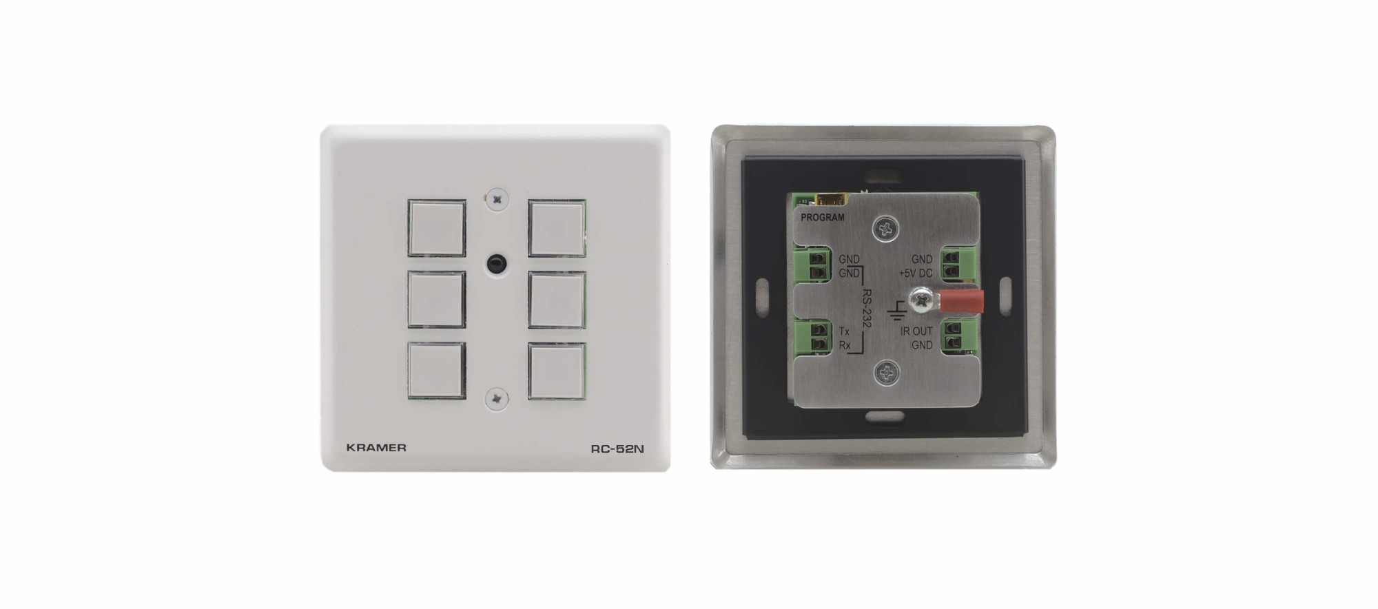 Kramer Electronics RC-52N Wired Press buttons Grey,White remote control
