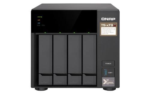 QNAP TS-473-8G/16TB-RED 4 Bay NAS Ethernet LAN Desktop Black