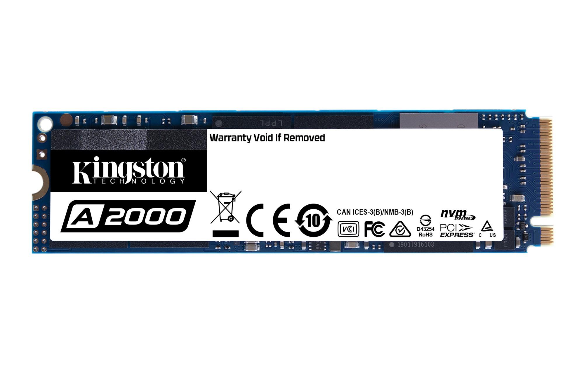 Kingston Technology A2000 M.2 1000 GB PCI Express 3.0 3D NAND NVMe