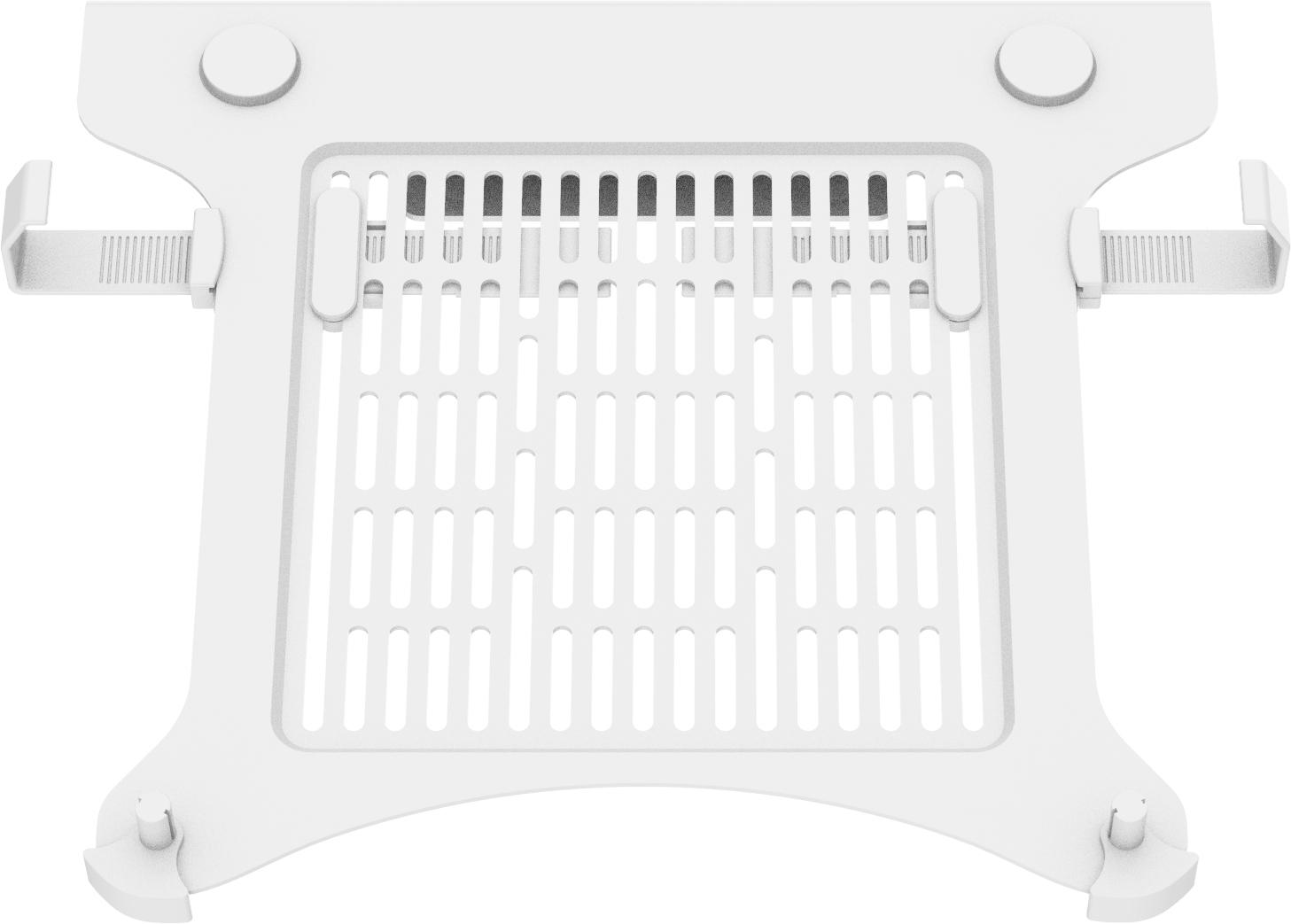 Vision VFM-DA3SHELFW soporte para ordenador portátil Notebook arm shelf Blanco
