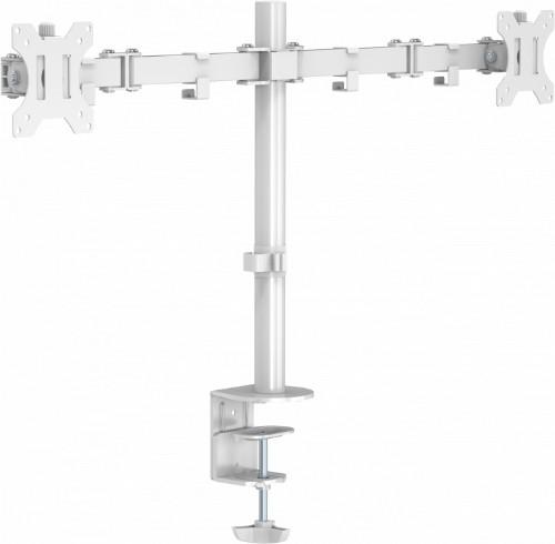 "Vision VFM-DPD2W flat panel desk mount 68.6 cm (27"") Clamp White"