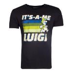 Nintendo Super Mario Bros. It's-A-Me Luigi T-Shirt, Male, Extra Extra Large, Black (TS724625NTN-2XL)