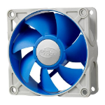 Deepcool Ultra Silent 80mm x 25mm 4pin Ball Bearing Case Fan with Anti-Vibration Frame PWM