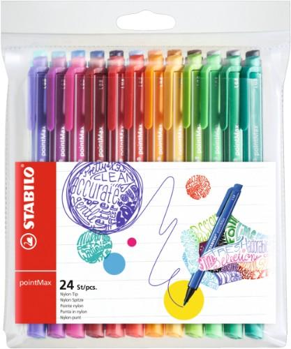 STABILO pointMax fineliner Green,Light Green,Orange,Pink,Purple,Red,Yellow 24 pc(s)