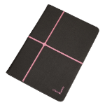 Urban Factory Collins Collection Universal Protective Folio with Stand for 10 Inch Tablet Device, Grey/Pink (FCC11