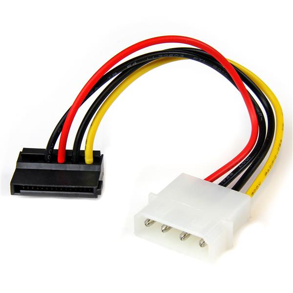 StarTech.com 6in 4 Pin Molex to Left Angle SATA Power Cable Adapter