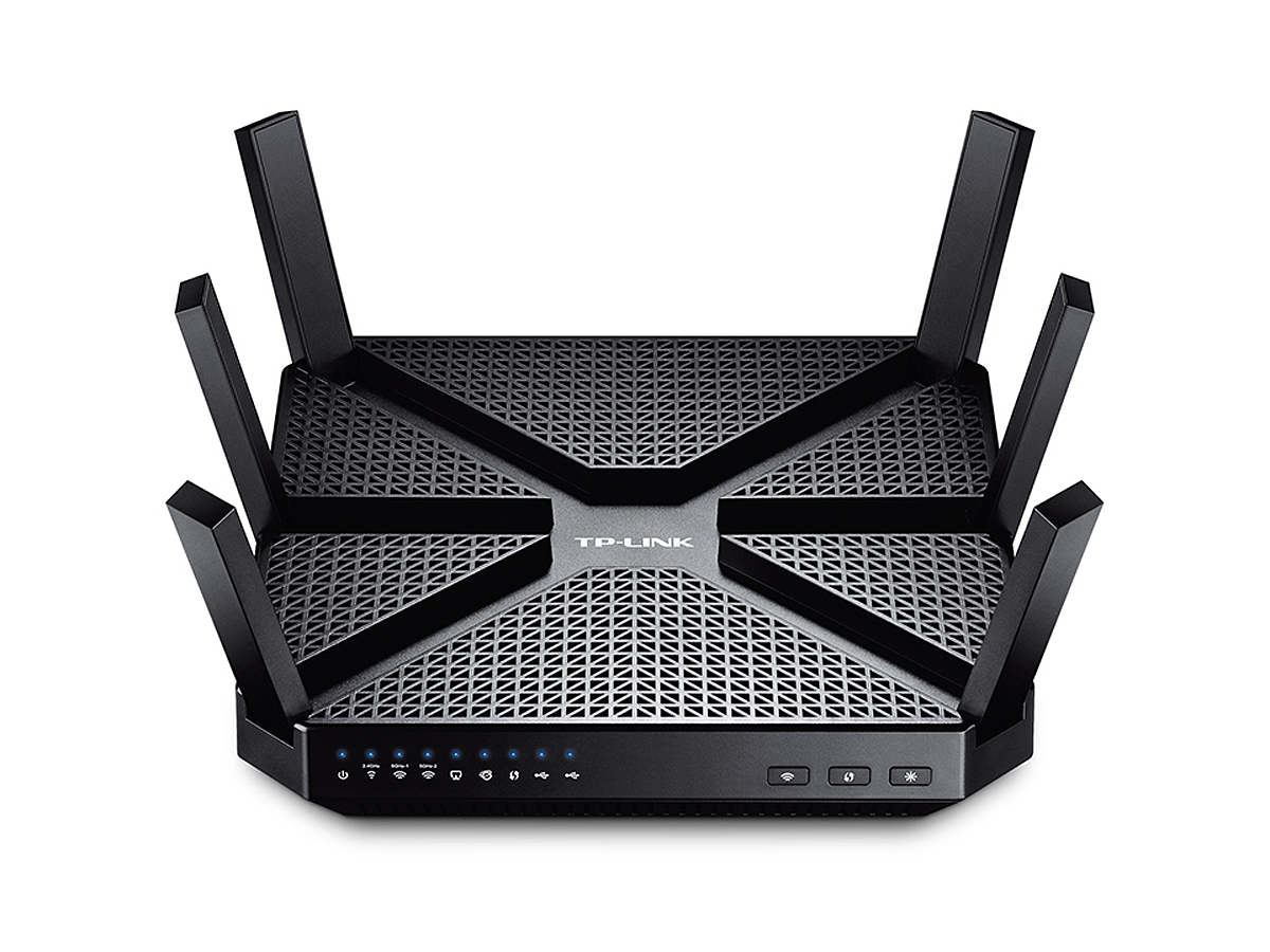 TP-LINK AC3200 Tri-band (2.4 GHz / 5 GHz / 5 GHz) Gigabit Ethernet Black wireless router