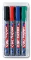 Edding 363 Whiteboard Marker Chisel Tip 1-5mm Assrtd PK4