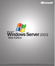 Microsoft Windows Server 2003 Web Edition SP2, 1pk, 1-2CPU, CROM, EN