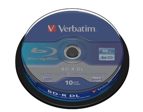 Verbatim 43746 blank Blu-Ray disc BD-R 50 GB 10 pc(s)