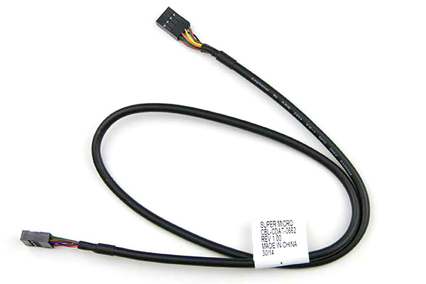 Supermicro CBL-CDAT-0662 serial cable Black 0.615 m 8-pin