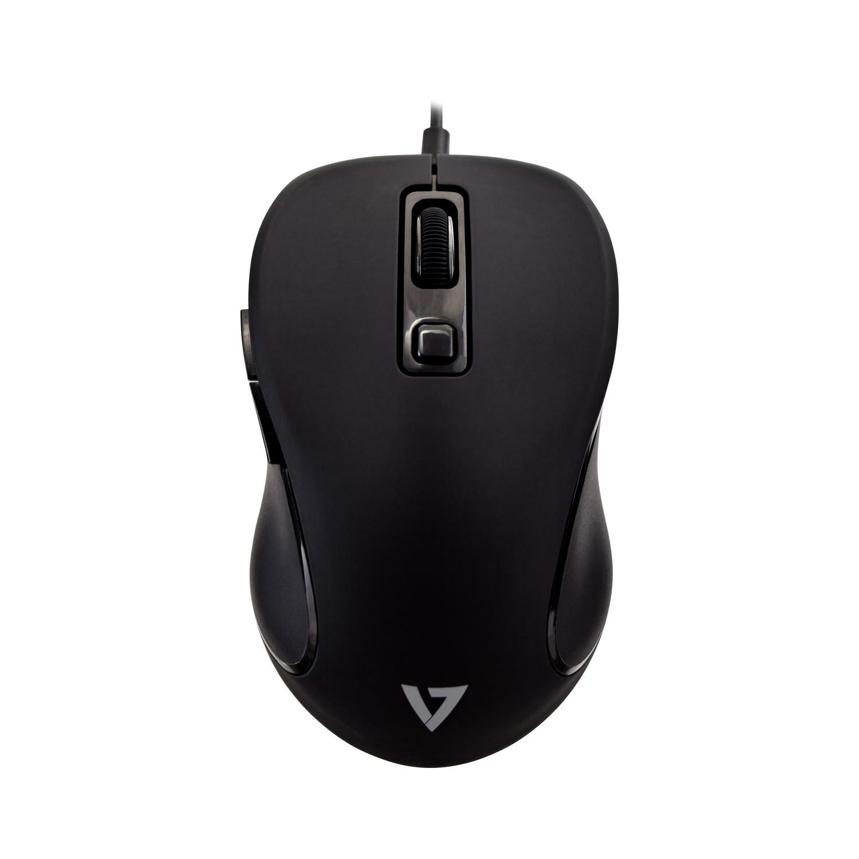 V7 MU300 PRO Ratón USB de 6 botones y DPI ajustable (negro)