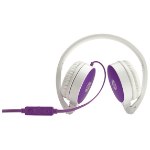 HP H2800 Binaural Head-band Purple,White headset