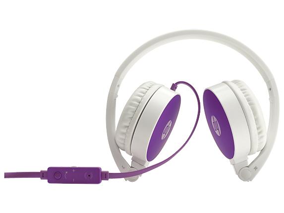 HP H2800 Binaural Head-band Purple,White headset