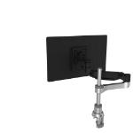 R-Go Tools R-Go Caparo 4 D2, Circular Single Monitor Arm, Desk Mount, Gas Spring, 3-9kg, Black-Silver, Low Carbon Footprint