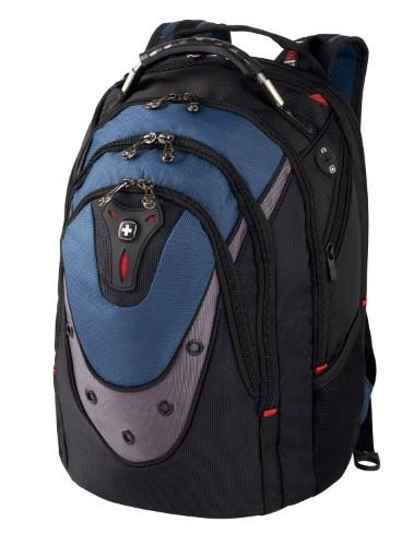 "Wenger/SwissGear 600638 17"" Backpack Black,Blue notebook case"