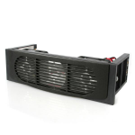 StarTech.com 5.25in Front Bay Mount Dual Fan Hard Drive Cooler - dual fan hard drive cooling kit - Hard drive cooler - black