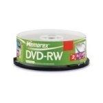 Memorex DVD-RW 4x 4.7GB, 10Pack, Cakebox