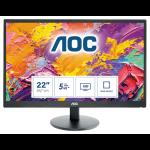 """AOC Basic-line E2270SWDN LED display 54.6 cm (21.5"""") 1920 x 1080 pixels Full HD Black"""