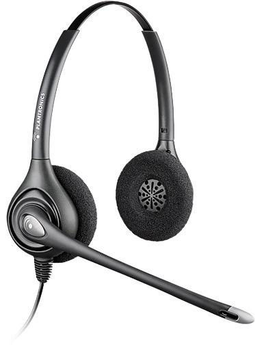 Plantronics SupraPlus Wideband HW261N Binaural Head-band Black headset