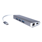 CONNEkT Gear 25-0100 interface hub USB 3.0 (3.1 Gen 1) Type-C 5000 Mbit/s Silver,White