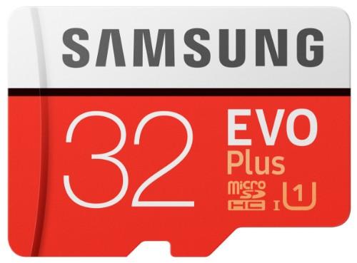 Samsung EVO Plus MB-MC32G 32GB MicroSDHC UHS-I Class 10 memory card