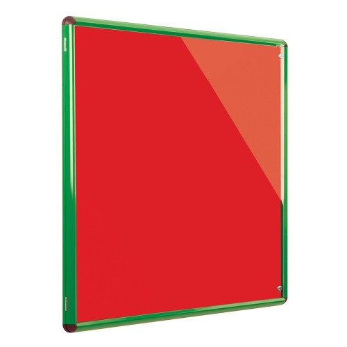 Metroplan Shield Design insert notice board Indoor Green, Red Aluminium