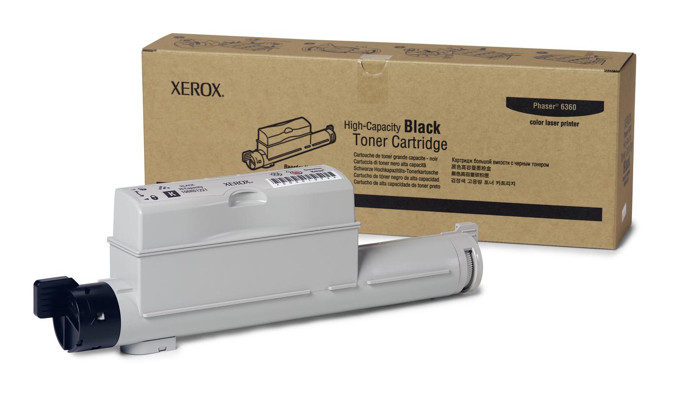 Xerox Cartucho De Tóner Negro De Alta Capacidad, Phaser 6360