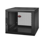 APC NetShelter WX 9U Single Hinged Wall-mount Enclosure 600mm Deep Wall mounted rack Black