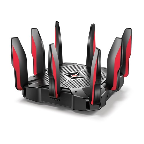 TP-LINK Archer C5400X Tri-band (2.4 GHz / 5 GHz / 5 GHz) Gigabit Ethernet Black, Red wireless router