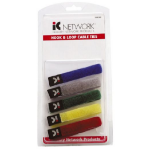 Cabac Hypertec Velcro Colour Cable Tie Pack of 5